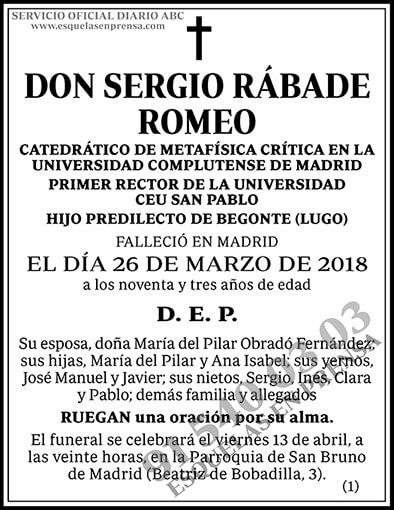 Sergio Rábade Romeo
